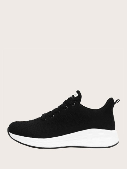 Minimalist Lace-up Front Sneakers