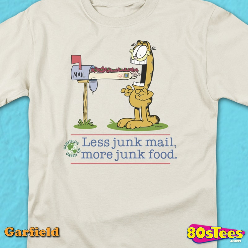 More Junk Food Garfield T-Shirt