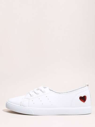 Lace-up Front Low Top Skate Shoes