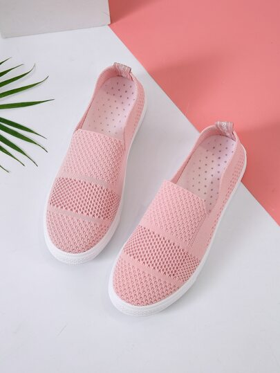 Minimalist Knit Slip On Sneakers