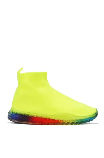 SWORDS SPOT ME OUT SLIP ON SNEAKER-LIME