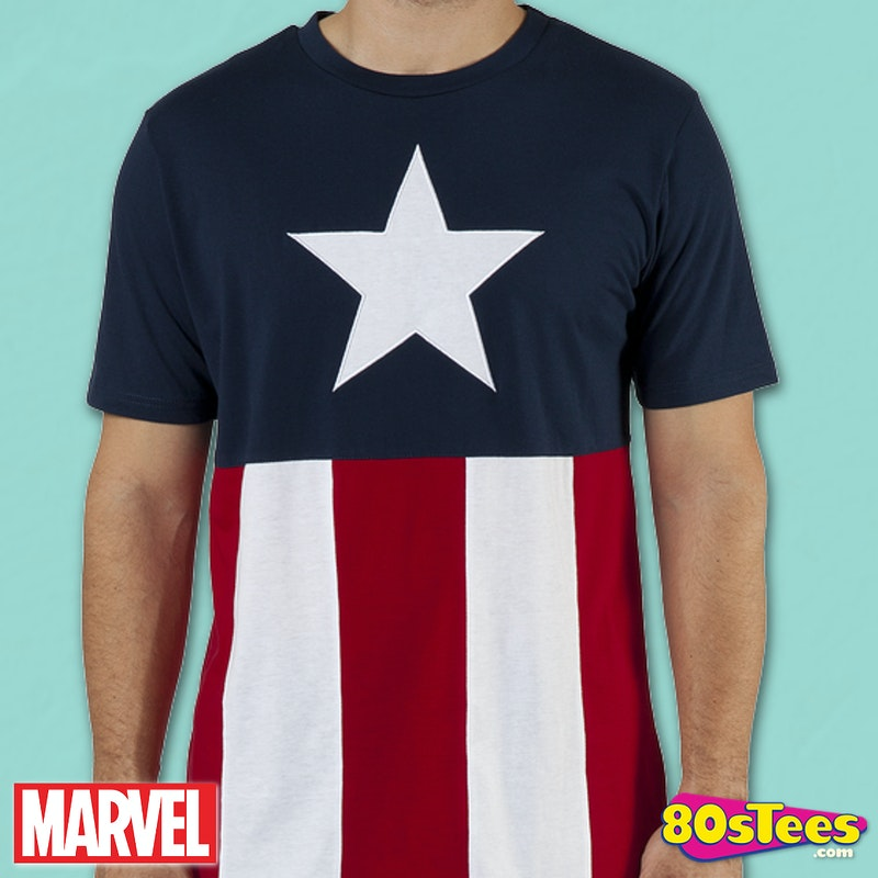 Knit Captain America Shirt