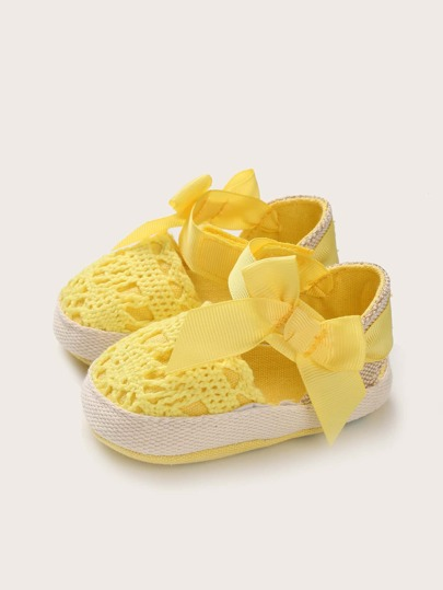 Baby Girls Bow Decor Flats