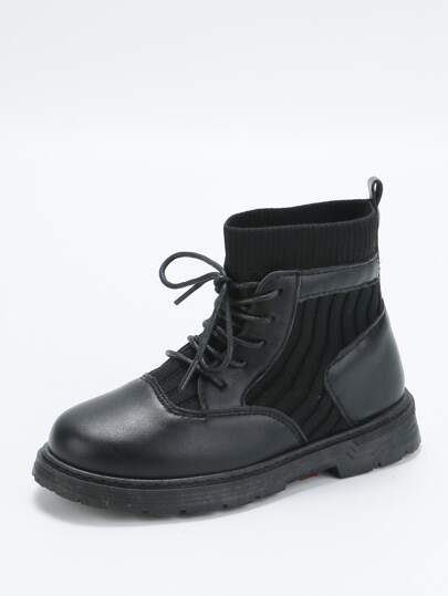 Girls Lace-up Front Boots