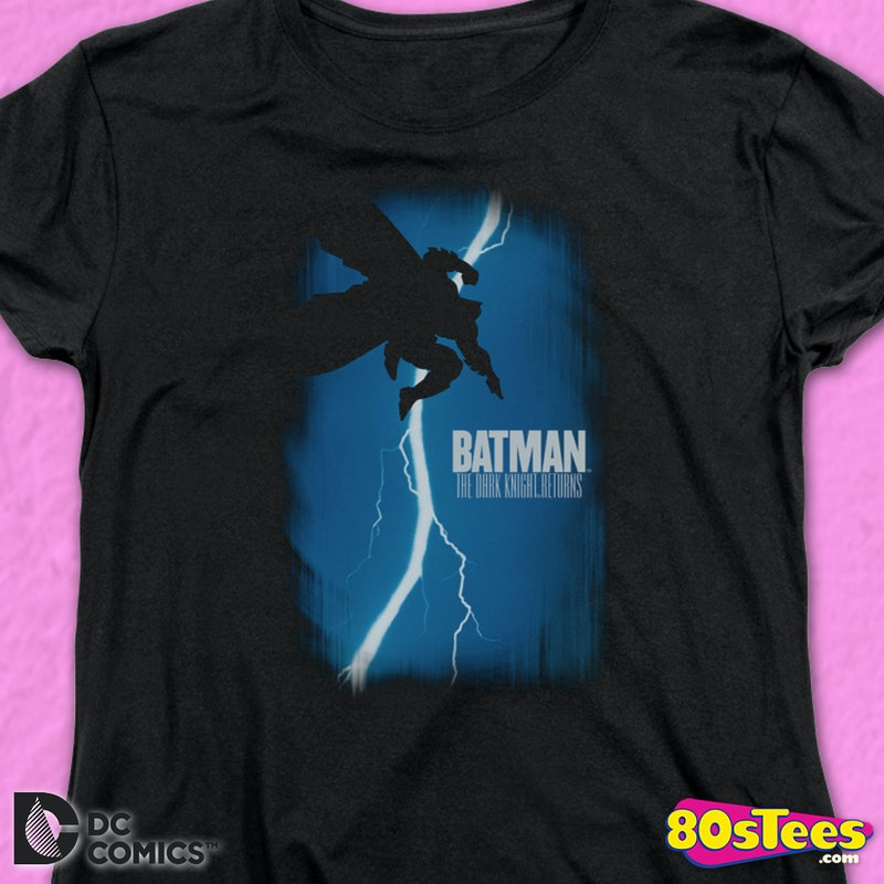 Womens The Dark Knight Returns Comic Book Cover Batman Shirt