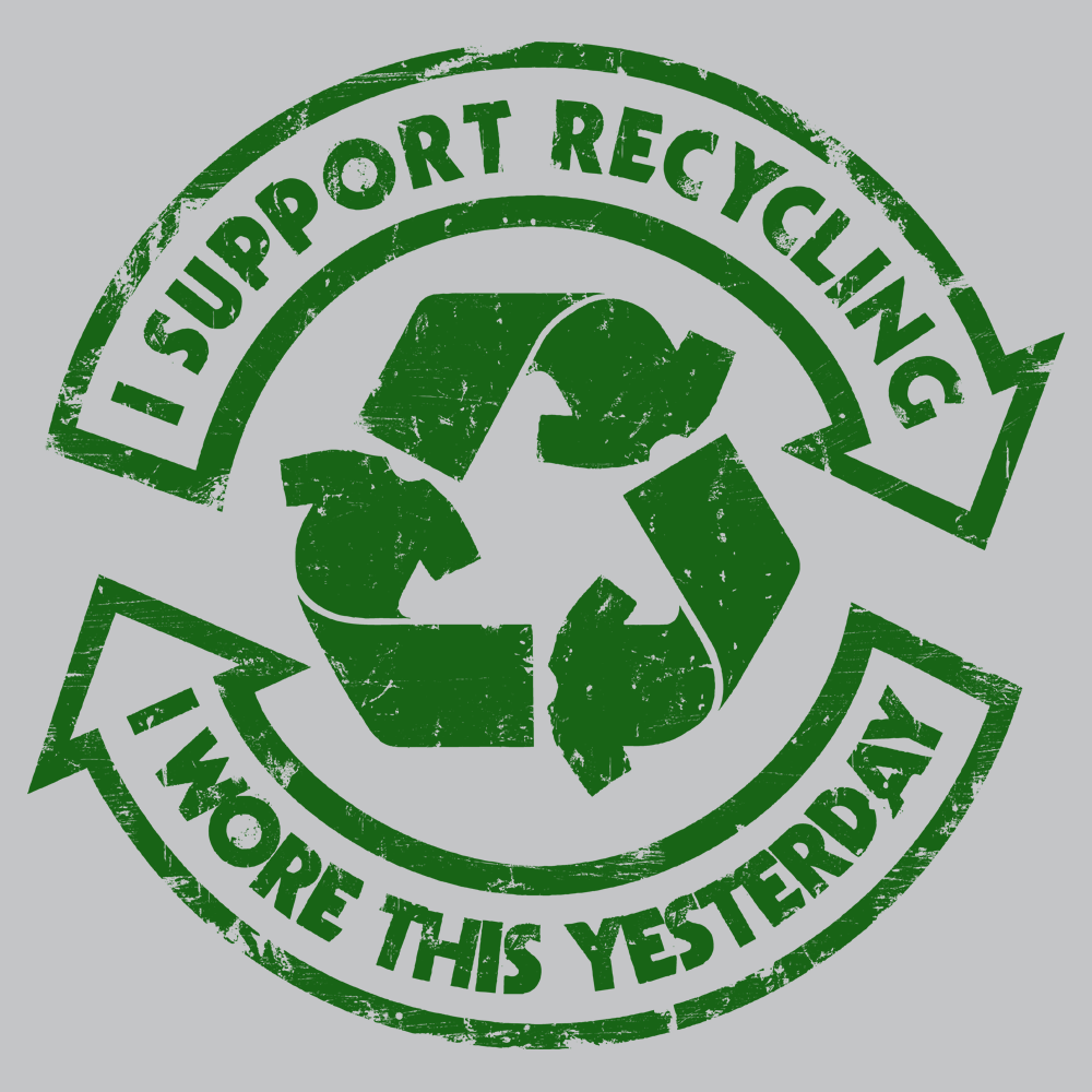 I Support Recycling T-Shirt | SnorgTees