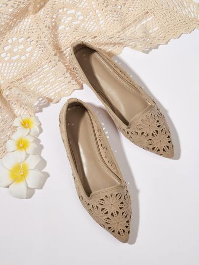 Hollow Out Slip On Flats