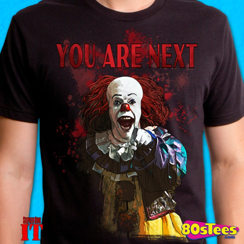 80bae1d4b Pennywise Stephen King's IT T-Shirt made by Changes in collections: Non 80s  Movies: It, & Department: Adult Mens, & Color: Black.