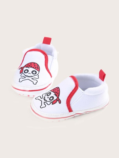Baby Boy Cartoon Graphic Flats