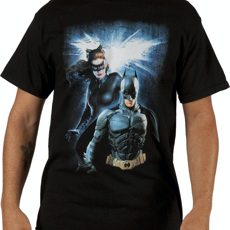 Batman and Catwoman Dark Knight Rises Shirt