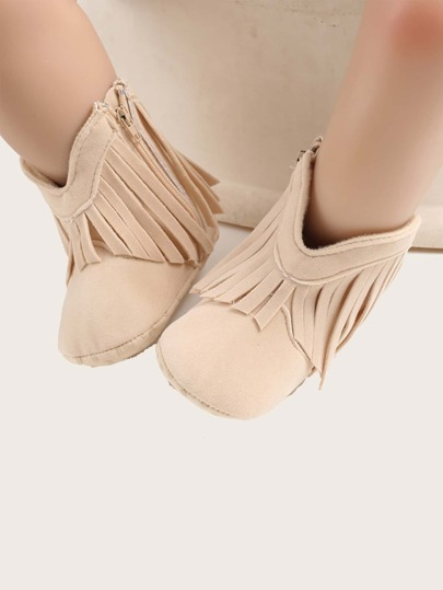 Baby Girl Fringe Decor Boots