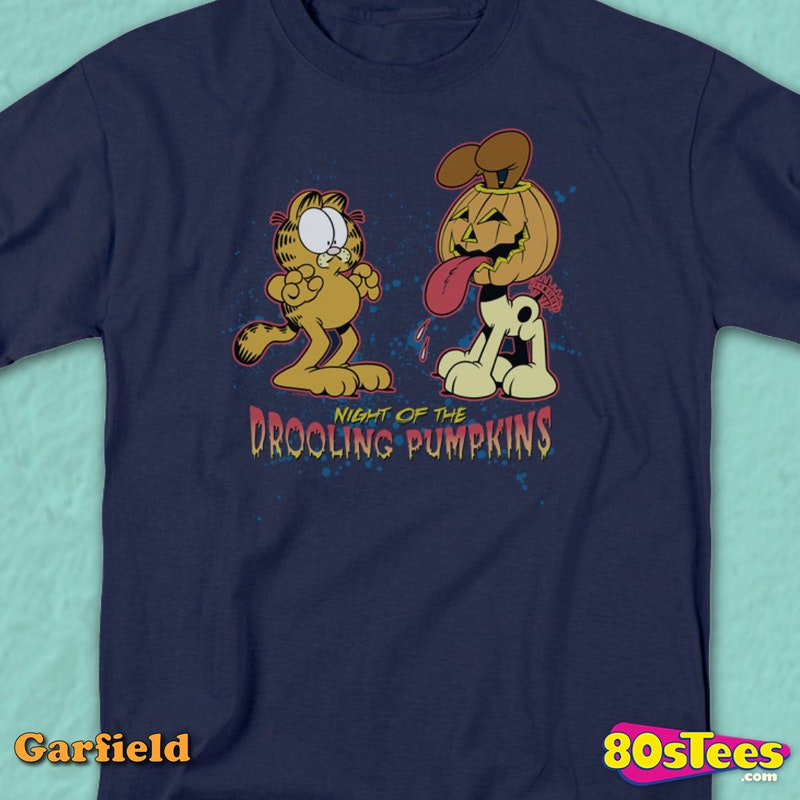 Night Of The Drooling Pumpkins Garfield T-Shirt