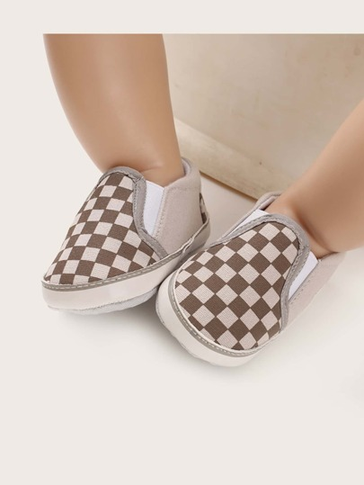 Baby Boy Checkered Flats