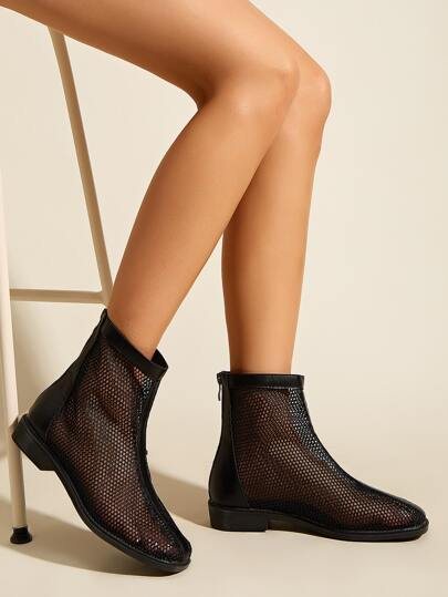 Zip Back Ankle Boots
