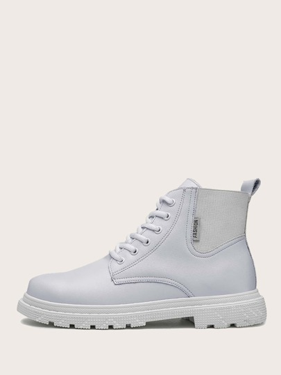 Men Lace-up Front Ankle Boots