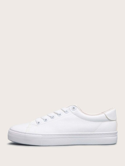 Minimalist Lace-up Front Low Top Skate Shoes