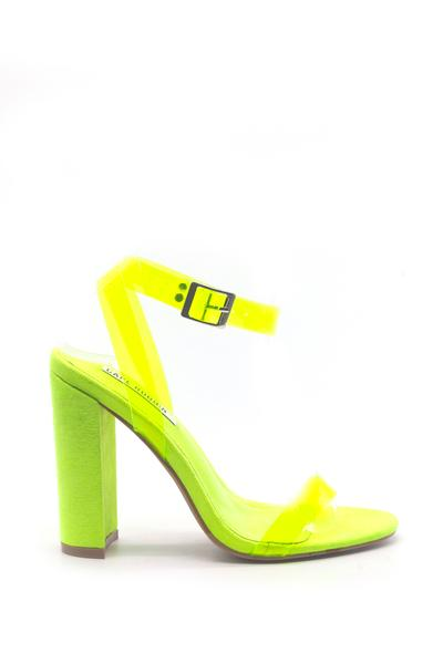 GEN CHUNKY STACKED HIGH HEEL BUCKLE STRAP CLOSURE SANDAL-LIME