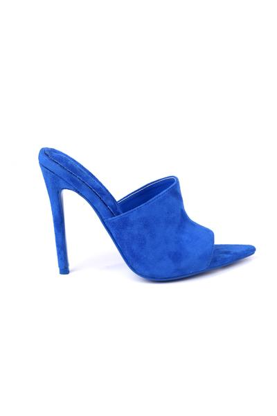 NADA TO WORRY ABOUT SUEDE STILETTOS-BLUE