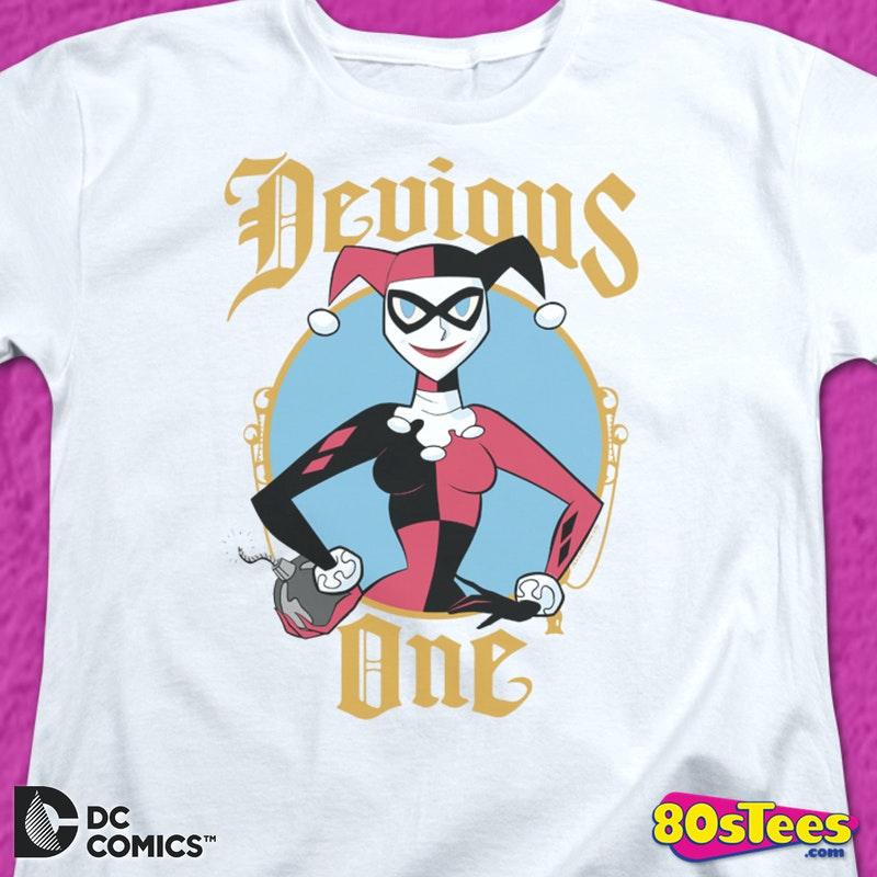 08e4f6a0e Junior Bad Girl Harley Quinn Batman Shirt Officially Licensed DC Comics T- shirt.