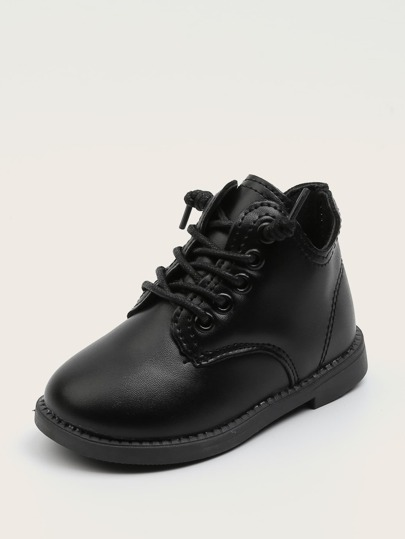 Toddler Boys Minimalist Lace-up Front Boots