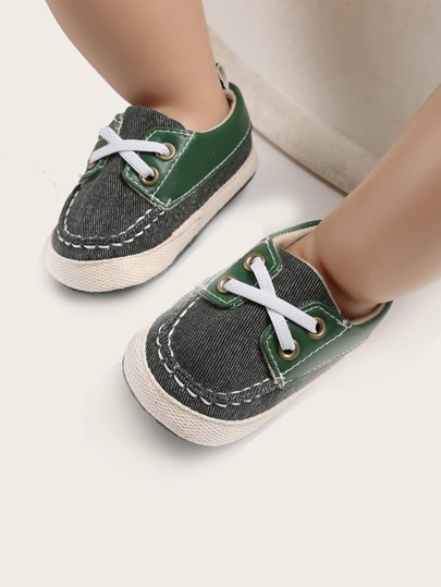 Baby Boy Stitch Trim Flats