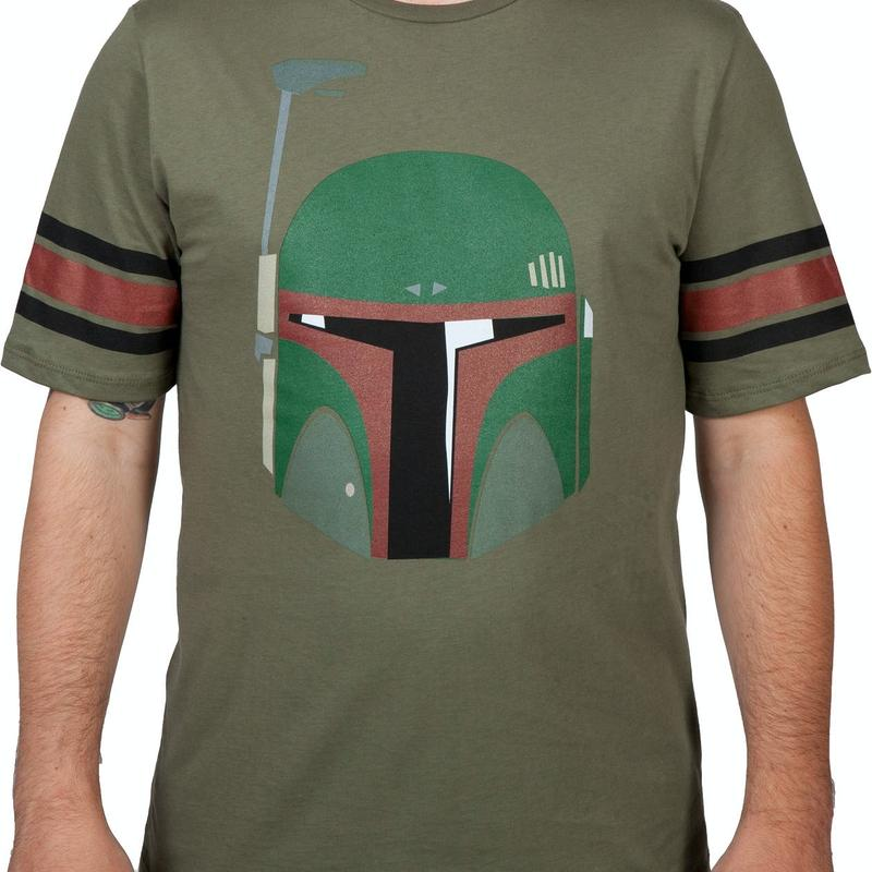 Boba Fett Striped Sleeve Shirt