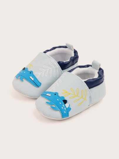 Baby Boy Cartoon Crocodile Detail Flats