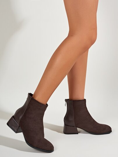 Chunky Heeled Ankle Boots