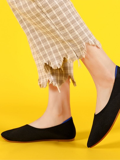 Wide Fit Point Toe Ballet Flats