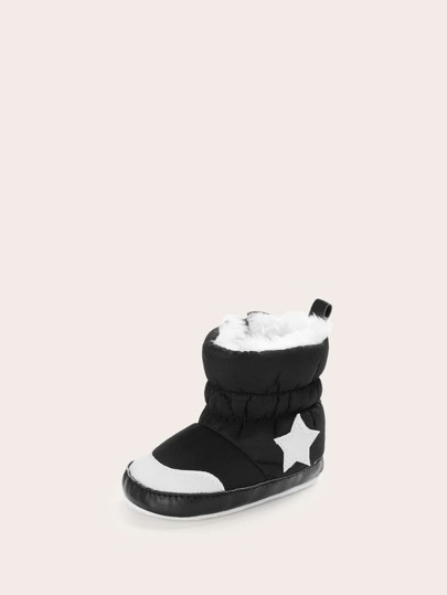 Baby Girls Star Patch Snow Boots