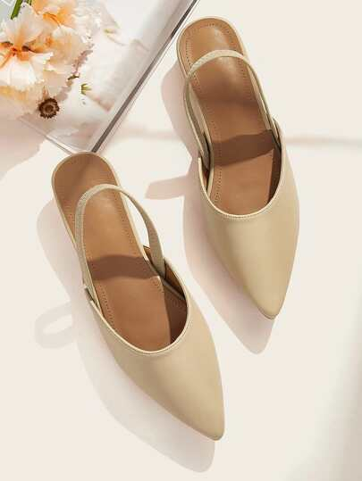 Point Toe Slingback Flats