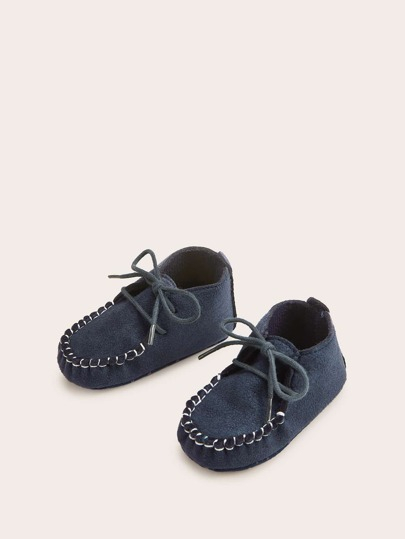 Baby Boys Lace-up Front Ankle Boots