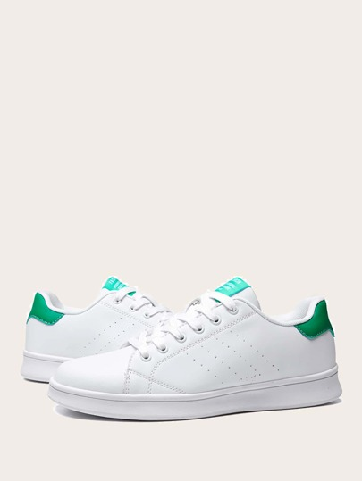 Men Perforated Lace-up Front Skate Shoes